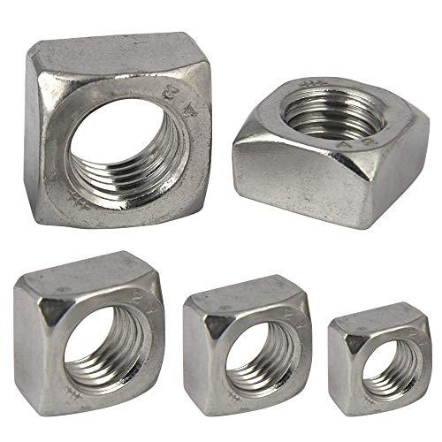 PROTECH 25 Stück Vierkantmuttern M6 DIN 557 Edelstahl A2 V2A Rostfrei Einlegemutter Quadratmuttern