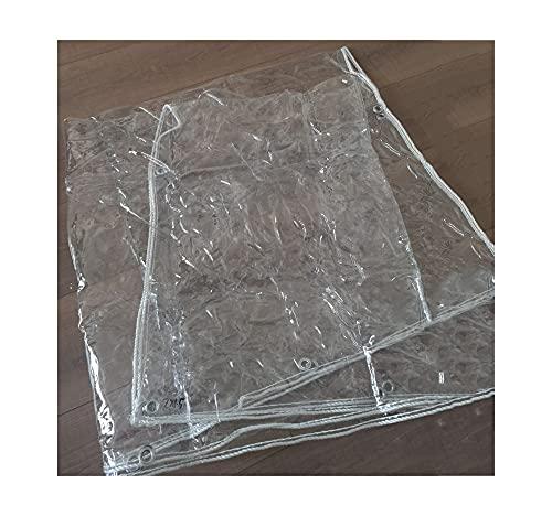 ZEMIN Espesar Lona Transparente, PVC Plastico Parabrisas Cubierta Protectora Balcón Anticongelante Lona Impermeable (Color : Claro, Size : 1x2m)