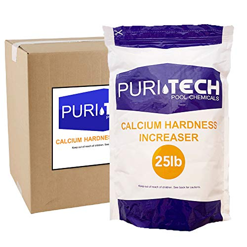Puri Tech Pool Chemicals Calcium Hardness Increaser Plus for Swimming Pools & Spas Increases Calcium Hardness Levels Prevents Staining on Surfaces… (25lb)