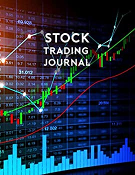 Stock Trading Journal - Line Candlestick Charts on Stock Market Board  Day trade history logbook analysis strategies recording notebook and planner - .. traders  Stock Trading Journal Logbook