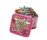 Best Box Hair Colors - 1 Box/700pcs Disposable Candy Color Elastic Rubber Bands Review