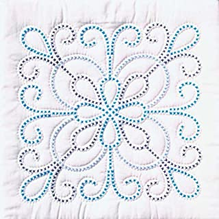 Jack Dempsey Needle Art 732103 XX Design 6-Quilt Block, 18-Inch by 18-Inch, White
