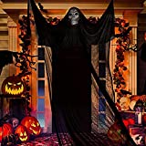 Esqueleto Colgante para Halloween,Decorado de Halloween,Fiestas de Halloween Accesorio,Cráneo Esqueleto Colgante,Esqueletos Fantasma Halloween Suministros para Fiestas Fondo Exterior para Interiores