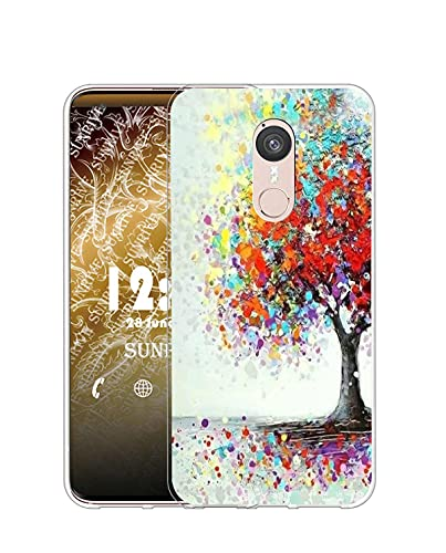 Sunrive Kompatibel mit Doogee F5 Hülle Silikon, Transparent Handyhülle Schutzhülle Etui Hülle (Q Baum 2)+Gratis Universal Eingabestift MEHRWEG