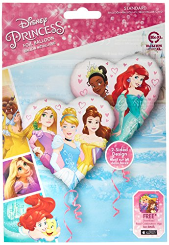 Amscan International 8.703.820,5 cm Disney Princess Herz Standard Folie Ballon