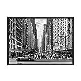 Pintura al óleo lienzoEdificio Ciudad de Nueva York Manhattan Empire State Canvas Art Scandinavian Posters and Prints Landscape Wall Picture for Living Room-30X40cm_No_Frame_Picture_2