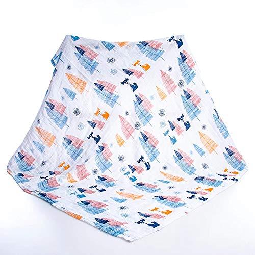 Ericcay Coton Bébé Couvertures Première Couverture Casual Chic Couverture Simplicité Style Classique De La Mode (Color : Fox Tree, Size : Size)