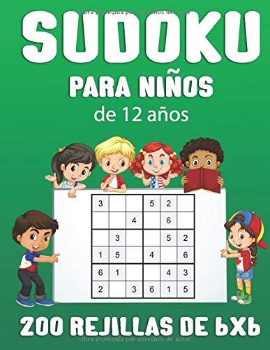 Sudoku para niños de 12 años: | Libro de 200 Sudokus rejillas de 6x6 rejillas para niños  adaptadas a su nivel | Dimensiones 15,24 x 22,86 cm | Estimula la Memoria y Lógica
