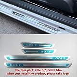 ASDNN 4 Unids/Set Car Door Sill Protector de Acero Inoxidable Placa de Desgaste Etiqueta de diseño para VW Volkswagen Golf 6 MK6 Golf 7 MK7 2008-2017