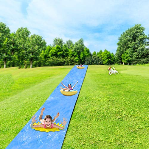 ZM1980s Water Slides For Garden, Lawn Water Slides For Kids, Wave Rider Slip And Slide, Garden Slip And Slide Mat, Backyard Water Slide, Waterslide For Kids And Adult, Summer Water Games (26ftx4.9ft)