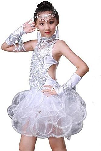 Peiwen La Danse Latine Paillettes de la Fille, la Robe de Gland Les Enfants, la Dance Dance de Perforhommece Dance Dance Show Costume