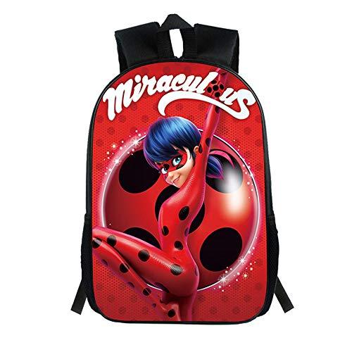 HOOMOLO Karikatur Miraculous Ladybug Aufdruck Rucksäcke Schulrucksack Kinderrucksäcke Sport Outdoor Trekkingrucksäcke Trekkingrucksäcke