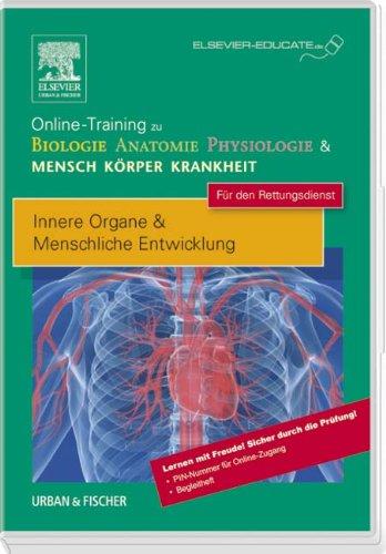 Online-Training zu Biologie Anatomie Physiologie & Mensch Körper Krankheit für den Rettungsdienst: Innere Organe & Menschliche Entwicklung