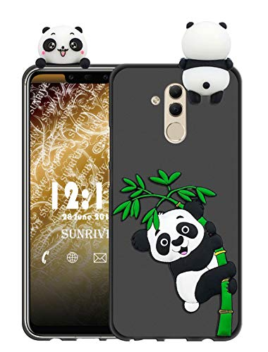 Sunrive Für alcatel A7 XL Hülle Silikon, Handyhülle matt Schutzhülle Etui 3D Case Backcover für alcatel A7 XL(W1 Panda 2) MEHRWEG+Gratis Universal Eingabestift