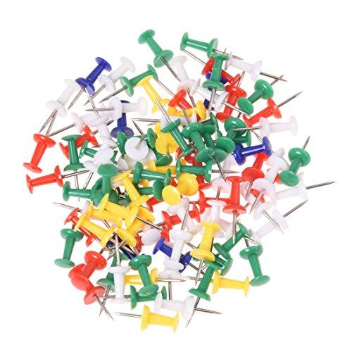 REFURBISHHOUSE 100pzs Chincheta colorido Pin de mapa del dibujo Aviso Oficina Escuela