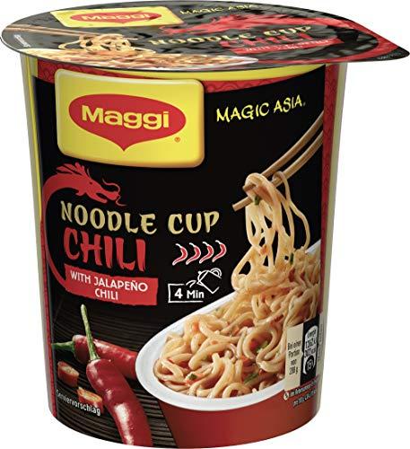 Maggi Magic Asia Noodle Chili Cup, Instant Nudel-Snack, asiatisches Fertiggericht, scharf gewürzt, 1er Pack (1 x 63g)