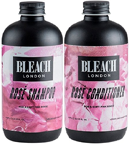 Bleach London, shampoo rosa x 250 ml e balsamo rosa Bleach London x 250 ml (2 pezzi)