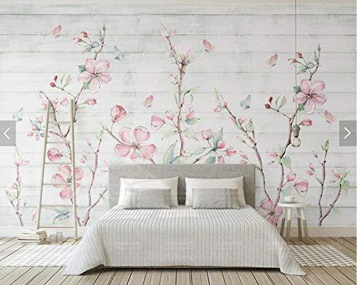 Wallpaper Muurstickers Kleurrijke Sakura Oosterse Kersenbloesem Bloem Muurschildering Fotobehang Muur Bloemen Vlinder Wallpapers 150 * 105cm