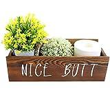 ZNCMRR Nice Butt Bathroom Decor Box, Toilet Paper Holder, Farmhouse Rustic Wood Organizer for Bathroom, Table Counter