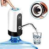 Moguat Dispensador de Agua para Garrafas con Adaptador, Grifo Dosificador Eléctrico Automático, Bomba Botella Agua Fria y Caliente