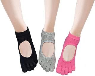 Yoga Socks for Women with Grip,  Non-Slip Toe Socks for Pilates,  Barre,  Ballet,  Fitness