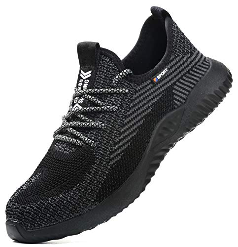 [EVIICC] 安全靴 作業靴 メンズ レディース スニーカー セーフティーシューズ 鋼先芯 ケブラーミッドソール 耐滑 耐磨耗 通気 軽い ファション 地下足袋