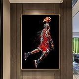 XXW Abstrakte Kunst Malerei Michael Jordan Poster Fly Dunk