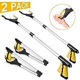 2 Pack-Grabber Reacher Tool for Elderly, 32' Foldable Claw...