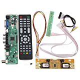 Bluelover V56 Universal TV LCD Tarjeta De Conductor Pc/Vga/Hdmi/USB Interfaz + 4 Inversor De La Lámpara + 30Pin 2Ch-8 bit Lvds Cable