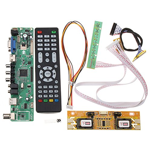 Bluelover V56 Universeel televisietoestel LCD bestuurdersbord Pc/Vga/Hdmi/USB-interface + 4 lampen inverter + 30 pin 2Ch-8bit Lvds kabel