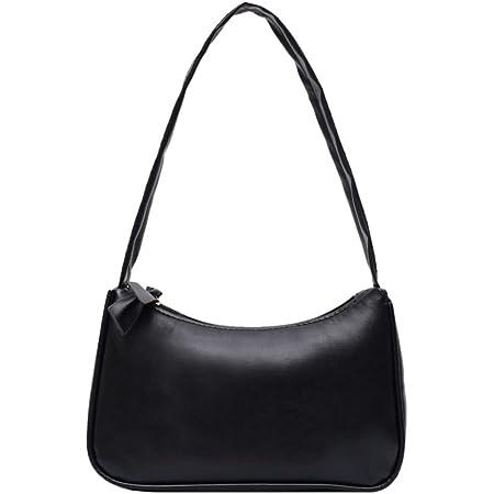 Yorimi Unterarmtasche für Damen im Retro-Stil, Schleife, Handtasche, PU-Leder, Tasche mit Griff oben Taschen mit Tragegriff Schwarz