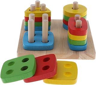 Baosity Wooden Geometry Building Block Montessori Intelligence Puzzle Education Toys