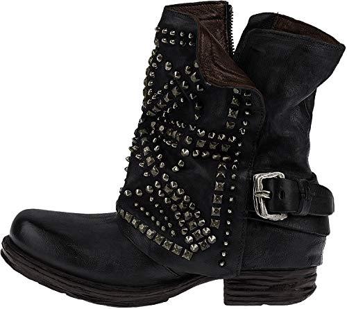 A.S.98 Damen Saintec Biker Boots, Schwarz (Nero), 39 EU