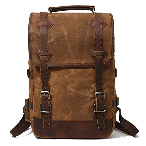 Sunsomen Men's Waxed Canvas Backpack review