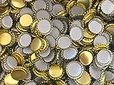 AE-GLAS 25, 50, 100 o 125 unidades, chapas doradas, 26 mm sin perforar, para botellas de cerveza, botellas de limonada y para cerrar cualquier botella estándar (25 unidades)