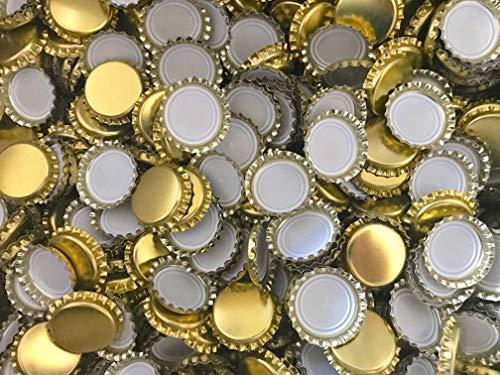 AE-GLAS 50, 75, 100 o 125 St. Kronkorken Gold 26 mm ungestanzt - para Bierflaschen Limonadeflaschen y para cerrar cualquier Standardflaschen, 50 unidades