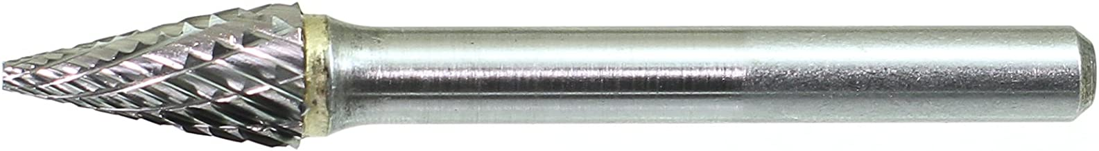 1//8 Shank Diameter Cone Single Cut 1//2 Cutting Length Drillco 7000M Series Magnum Solid Carbide Miniature Bur 1//4 Head Diameter Pack of 1