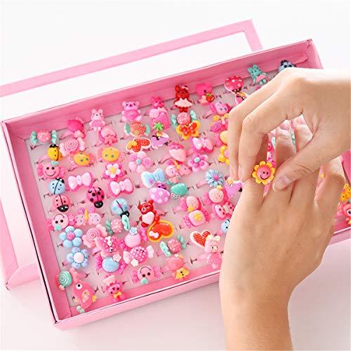 Viesky Snoep Bloem Dier Boog Vorm Ring Set 10 stks/partij Children's Cartoon Ringen