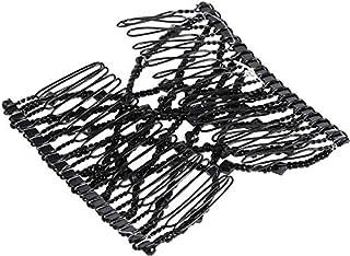 مجموعة ادوات تصفيف الشعر يمكنك استخدامها بنفسك مكونة من 2 قطعة مكونة من اسورة مشط لتمشيط الشعر بتصميم مطاط رائع ومشابك مزد...