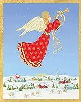 Entertaining with Caspari Adoration Of The Magi クリスマスカード 16枚入り レッド 87005