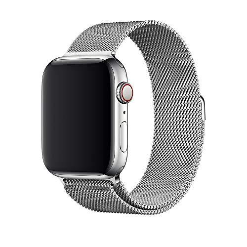 Crong Milano Steel Elegante roestvrijstalen armband voor Apple Watch 38/40 mm, zilver