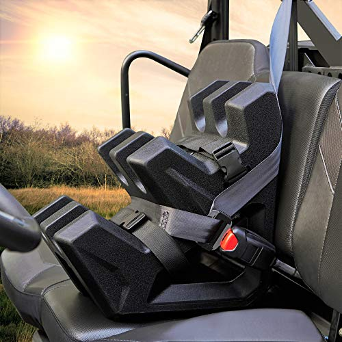 UTV Ranger Gun Holder, kemimoto Anti-Scratch Shock Resistant UTV Gun Holder Mount Bracket On Seat Compatible With Polaris Ranger General Can Am Defender Honda Pioneer Side By Side (Hold 2 Guns)