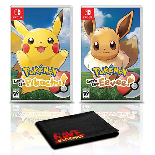 Pokemon Let's Go, Pikachu! and Pokemon Let's Go, Eevee! - Two Game Bundle For Nintendo Switch