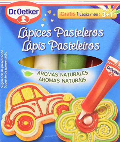 Dr.Oetker Lápices Pasteleros 3+1, 76g