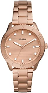 Fossil Women's DAYLE STAINLESS STEEL WATCH BQ3596, ROSE GOLD
