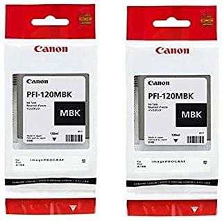 Canon PFI-120 Pigment Ink Tank (Matte Black, 2-Pack) in Retail Packaging