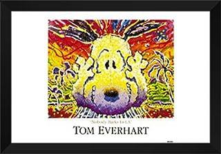"""Tom Everhart Framed Art Print 40x28 """"Nobody Barks in L.A."""""""