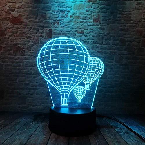 3D-Illusionslampe LED-Nachtlicht beleuchtete Luftballons Modell Schreibtischlampe 7 Ändern der bunten Blitzbeleuchtung Spielzeug Party Lieferant für Kindergeburtstag oder Weihnachtsgeschenke