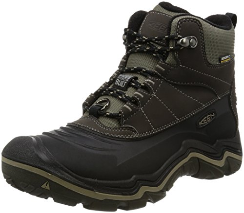 KEEN Men's Durand Polar Shell Shoe, Black Olive/Brindle, 11.5 M US