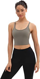 Lrady Women's Removable Padded Sports Bras Fitness Workout Shirts Running Yoga Tank Top